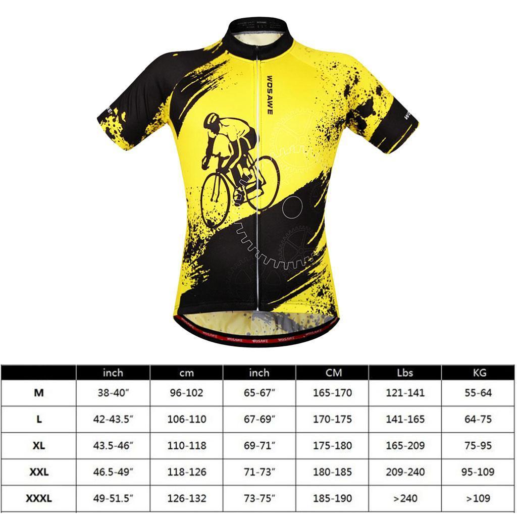 Homme-Maillots-De-Cyclisme-Velo-a-Manches-Courtes-Respirant-T-Shirt miniature 24
