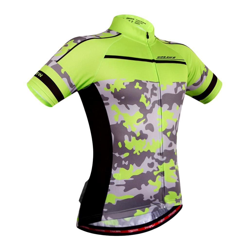 Homme-Maillots-De-Cyclisme-Velo-a-Manches-Courtes-Respirant-T-Shirt miniature 30