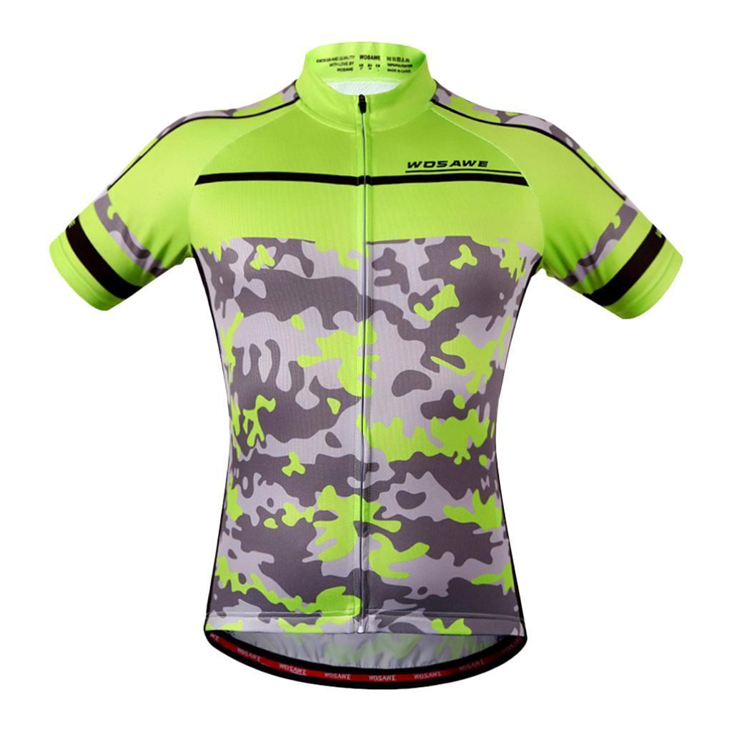 Homme-Maillots-De-Cyclisme-Velo-a-Manches-Courtes-Respirant-T-Shirt miniature 29