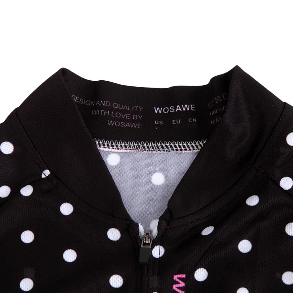 Velo-de-route-Velo-Femmes-Cyclisme-Manches-Courtes-Maillots-Haut-T-shirt miniature 5