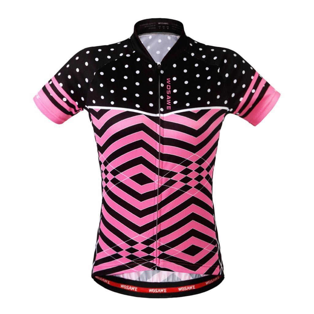 Velo-de-route-Velo-Femmes-Cyclisme-Manches-Courtes-Maillots-Haut-T-shirt miniature 6