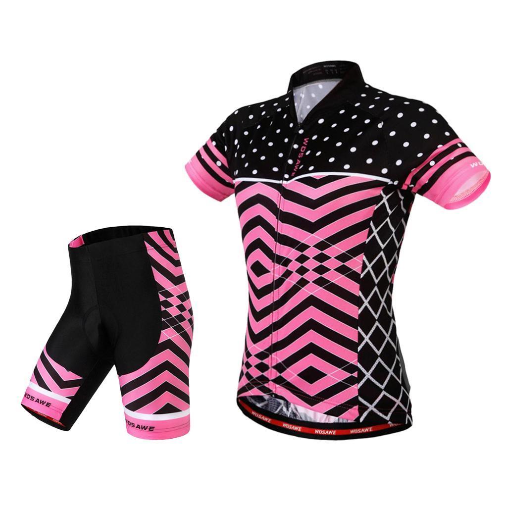 Velo-de-route-Velo-Femmes-Cyclisme-Manches-Courtes-Maillots-Haut-T-shirt miniature 4
