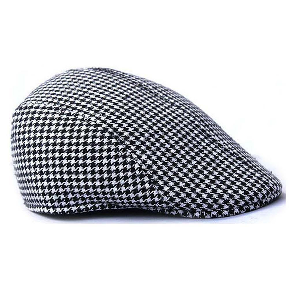 Garcon-Filles-Baseball-Beret-Casquette-Flat-Peaked-Toddler-Houndstooth-Cap-Decor miniature 18