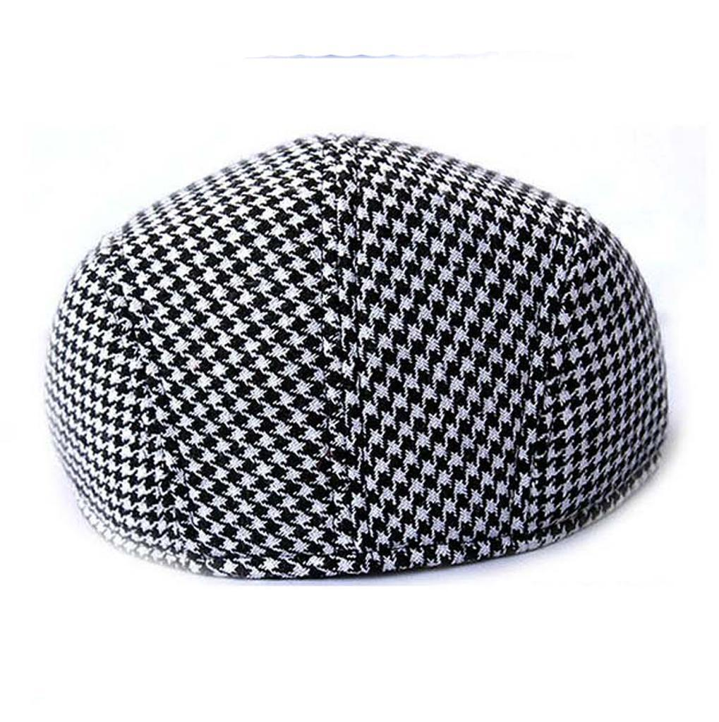 Garcon-Filles-Baseball-Beret-Casquette-Flat-Peaked-Toddler-Houndstooth-Cap-Decor miniature 20