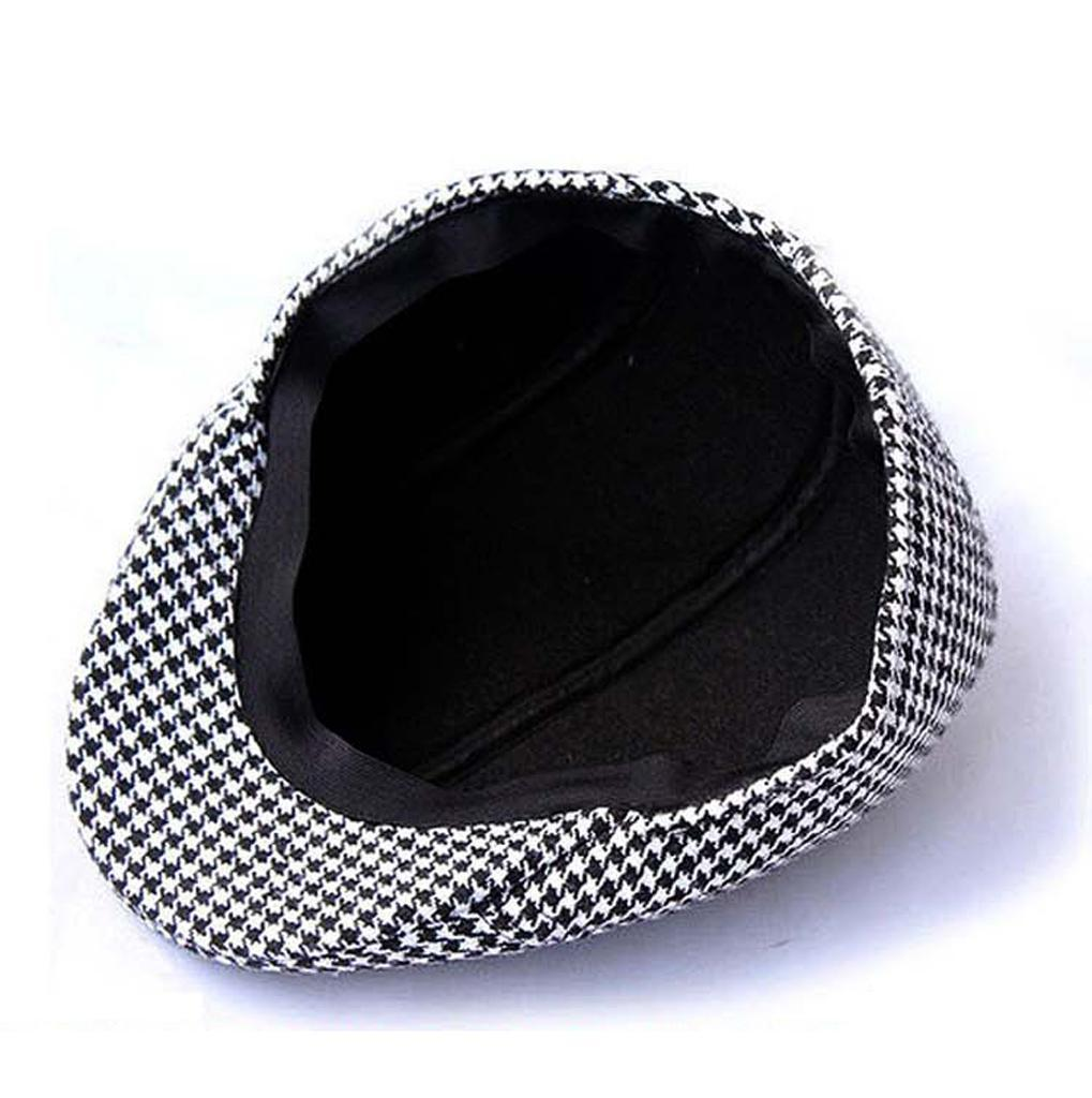 Garcon-Filles-Baseball-Beret-Casquette-Flat-Peaked-Toddler-Houndstooth-Cap-Decor miniature 21