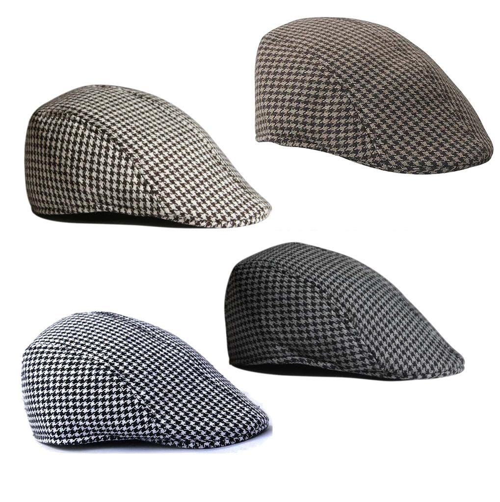 Garcon-Filles-Baseball-Beret-Casquette-Flat-Peaked-Toddler-Houndstooth-Cap-Decor miniature 22