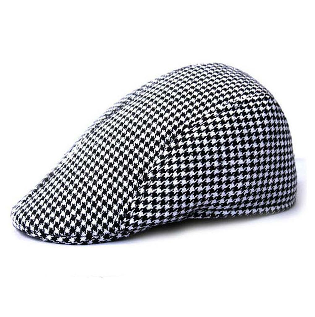Garcon-Filles-Baseball-Beret-Casquette-Flat-Peaked-Toddler-Houndstooth-Cap-Decor miniature 17