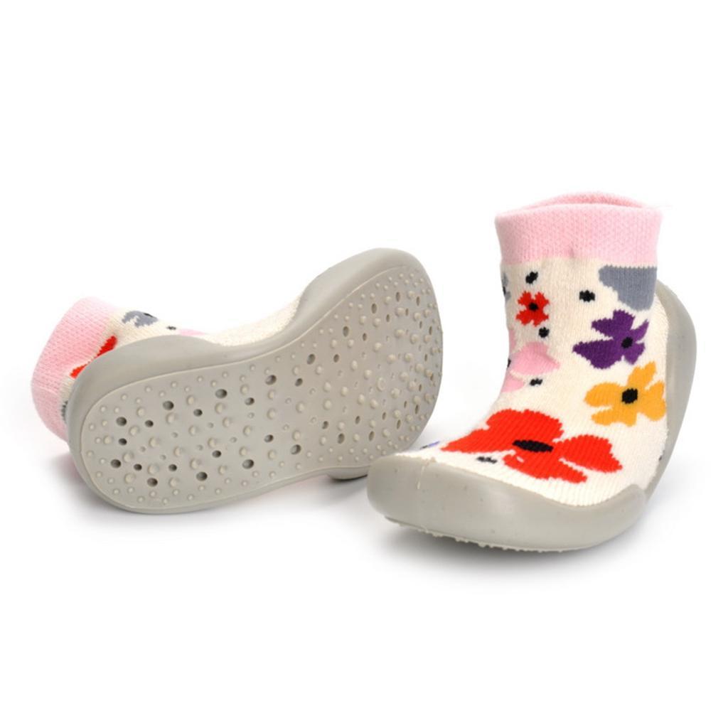 Chausson-Botte-Chaud-Garcon-Fille-Premier-pas-Imprime-Chaussure-Antiglissement miniature 12