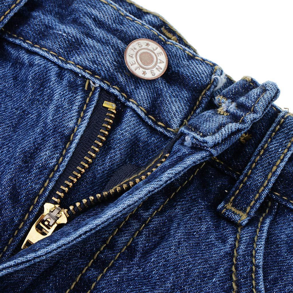 Women Casual High Waisted Ripped Denim Skirt Bodycon Mini Skirt Slim Streetwear