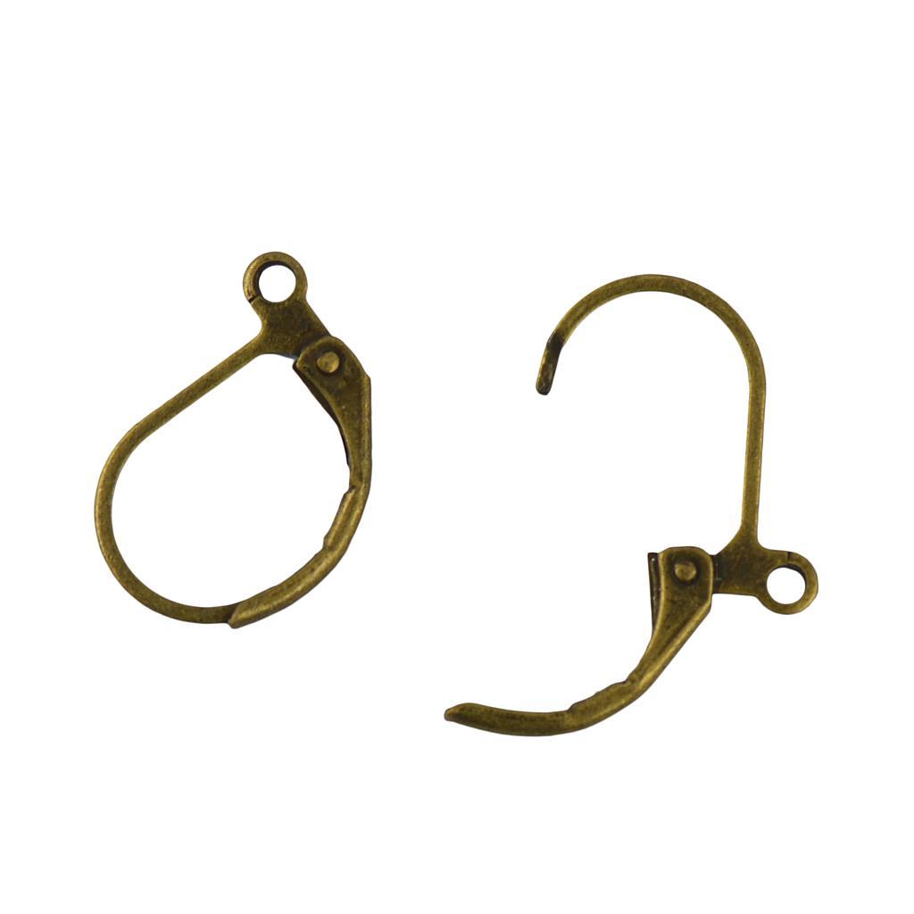 Hot 50pcs French Leverback Earrings Hooks Open Loop Findings DIY