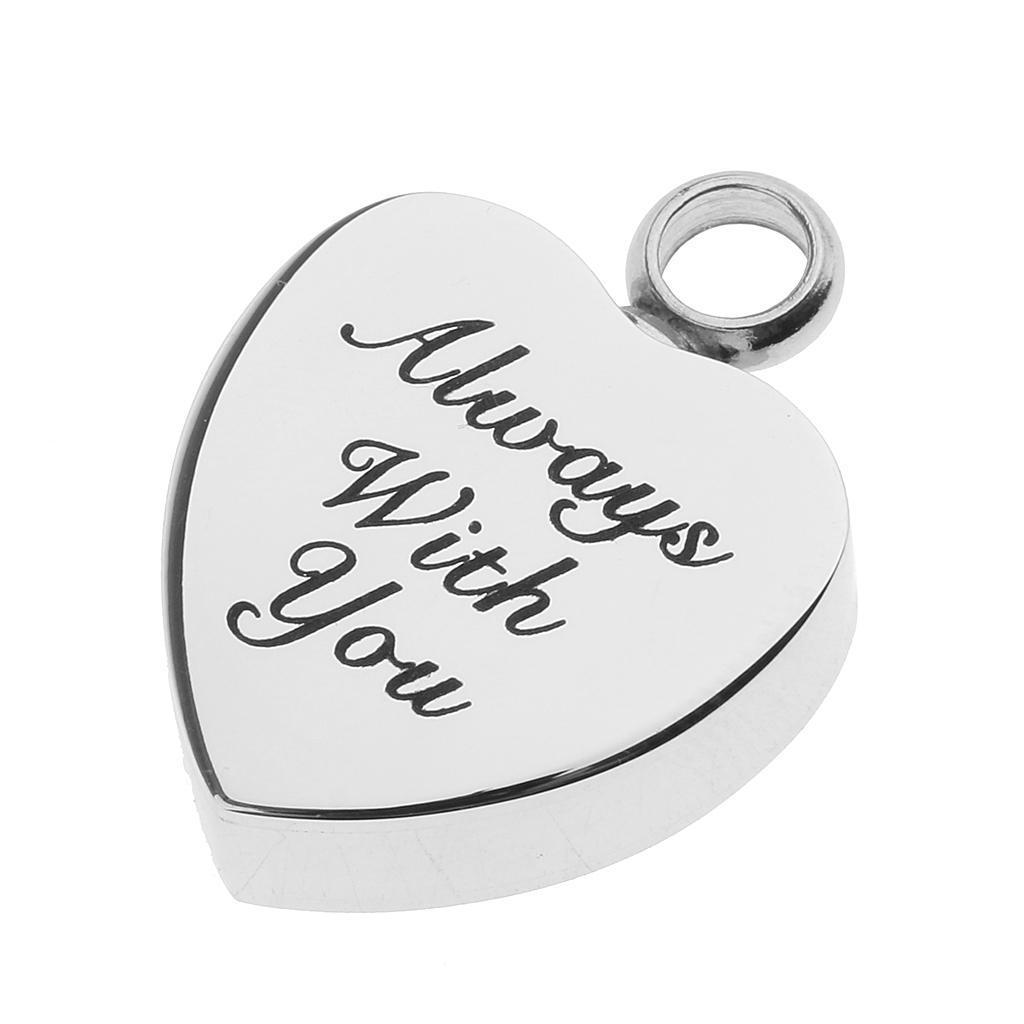 Love-Heart-Cremation-Urn-Pendant-Keepsake-Ash-Heart-Shape-Stainless-Steel-Locket thumbnail 14