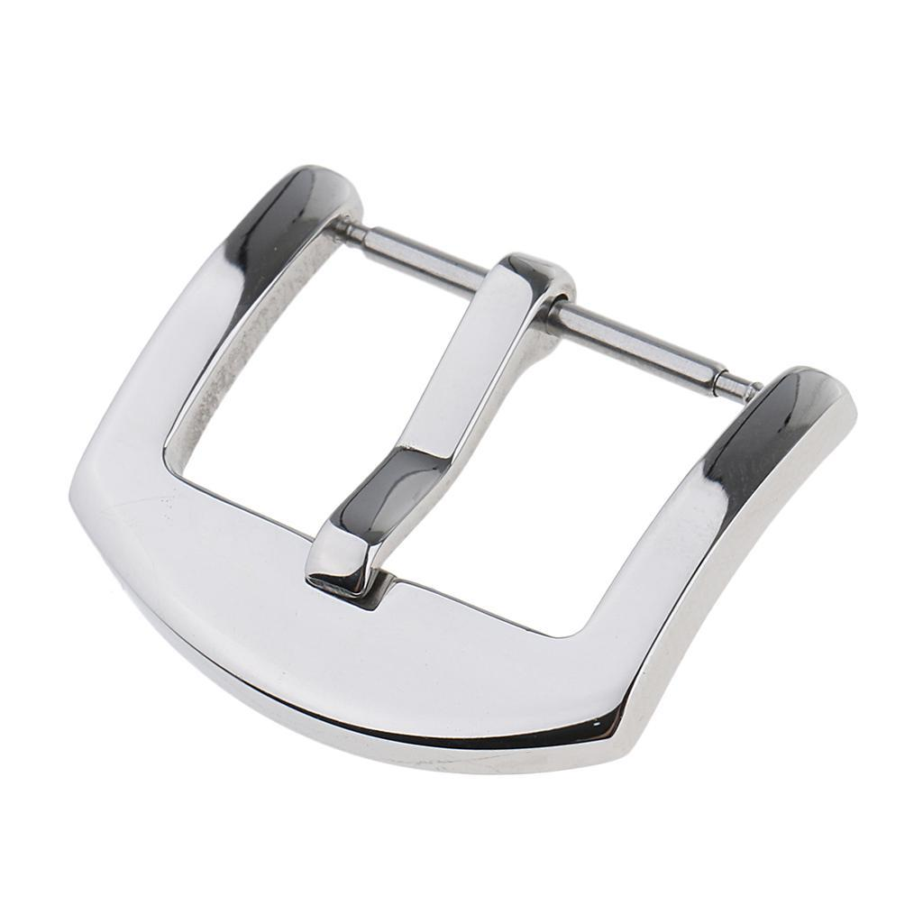 Silver-Stainless-Steel-Watch-Buckle-For-Watch-Band-Spring-Bar-Watch-Clasp thumbnail 13