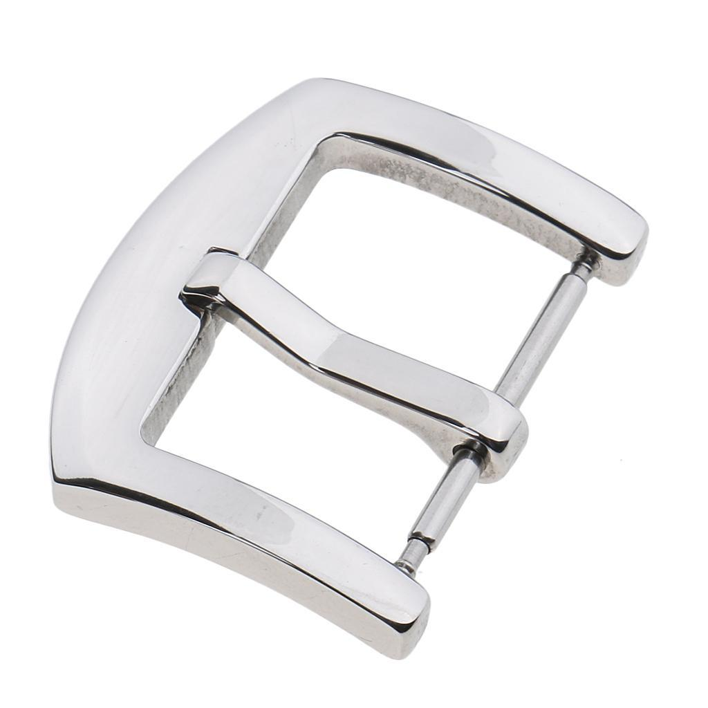 Silver-Stainless-Steel-Watch-Buckle-For-Watch-Band-Spring-Bar-Watch-Clasp thumbnail 14