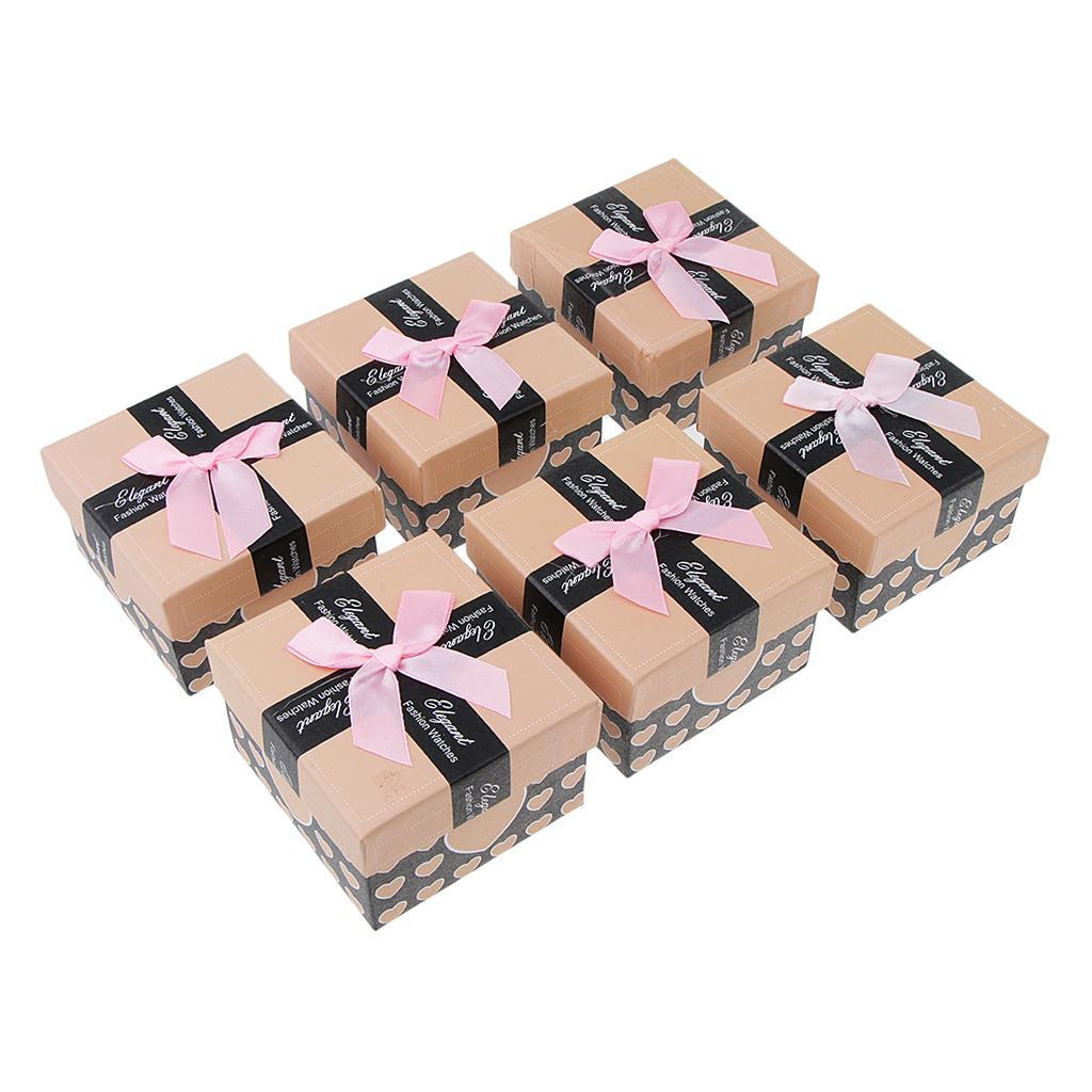 6pcs-Paper-Cardboard-Jewelry-Gift-Boxes-Watch-Ring-Earring-Bracelet-Storage thumbnail 9