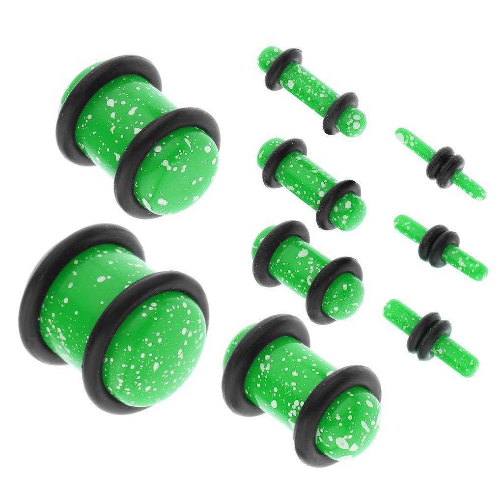 Set-18Pcs-Earplugs-Tunnel-Dilatation-Jewelry-Donna-Fashion-Fibbie miniatura 22