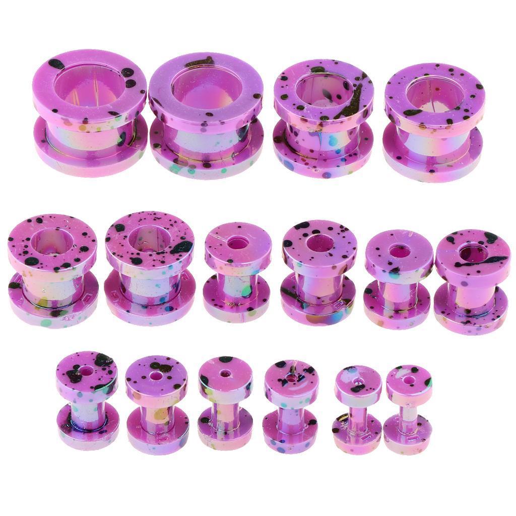 16-Pezzi-Tappi-Orecchie-Acrilico-Colorfast-Comodo-Accessorio-Moda-Per miniatura 10