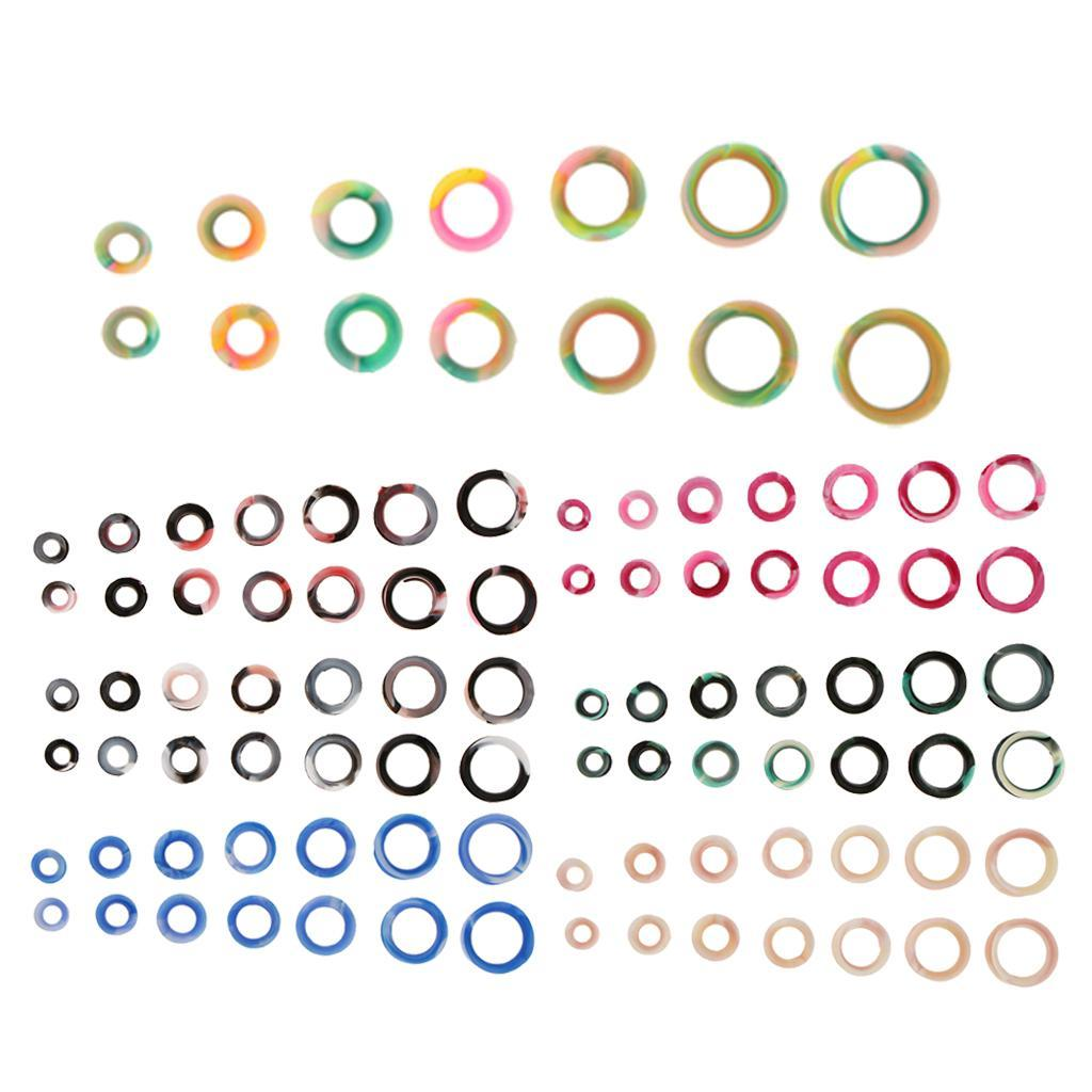 7-paia-di-colori-mix-Silicone-flessibile-Ear-Gauges-Thin-Soft-Plug-Flesh miniatura 4
