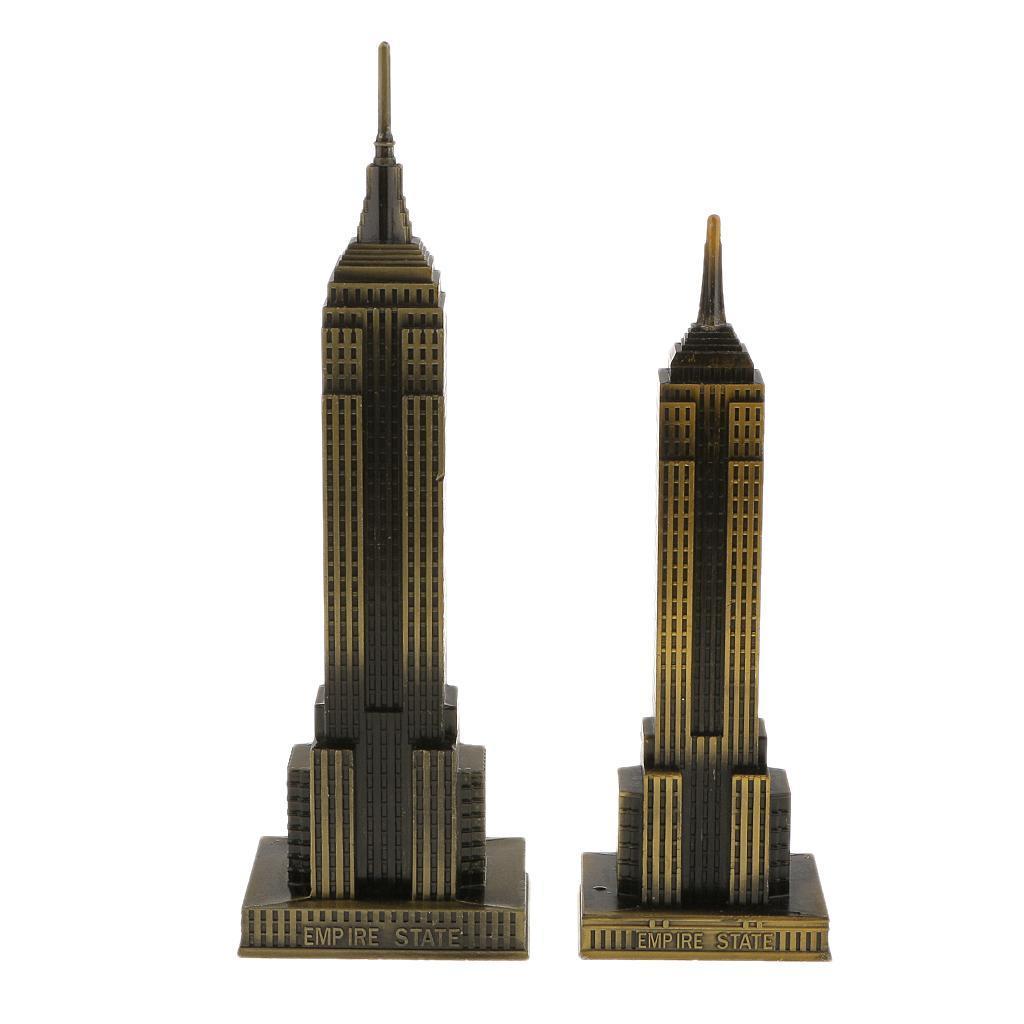 Bronze-World-039-s-Famous-Building-Architecture-Model-Statue-Landmark-Home-Decor thumbnail 9