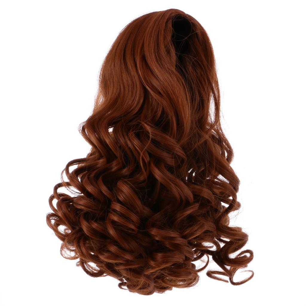Straight-Wavy-Curly-Hair-Wig-for-18-039-039-Dolls-Clothes-Accessories thumbnail 5