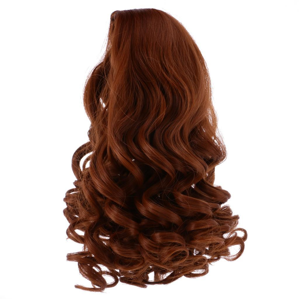 Straight-Gradient-Curly-Hair-Wig-for-18-039-039-Doll-Dress-up-Accessory thumbnail 7