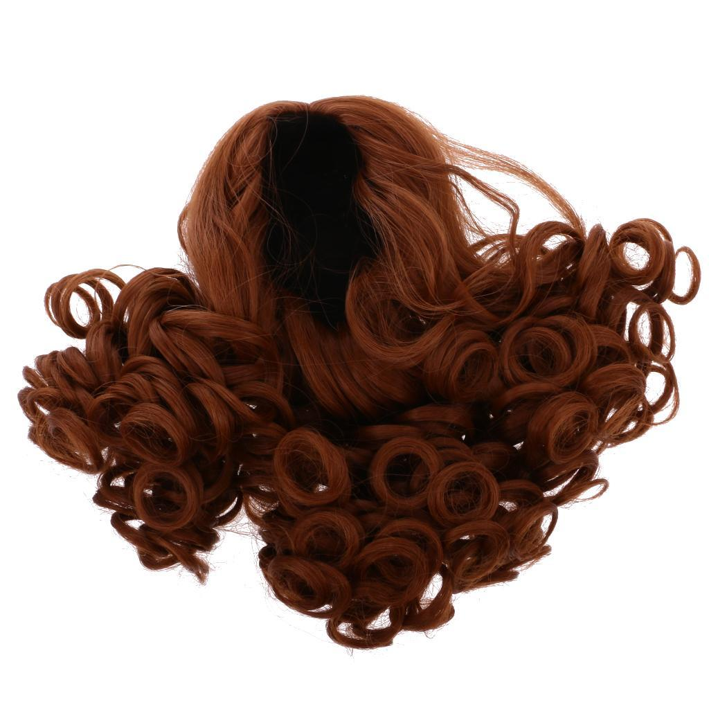 Straight-Gradient-Curly-Hair-Wig-for-18-039-039-Doll-Dress-up-Accessory thumbnail 6