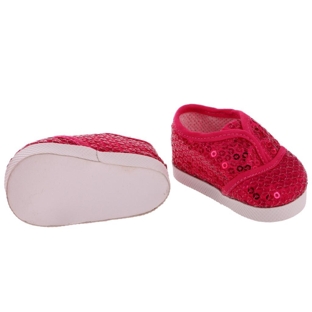 New-Cute-Pair-of-Doll-Shoes-for-18-039-039-American-doll-AG-Dolls-Clothes-Accessories thumbnail 28