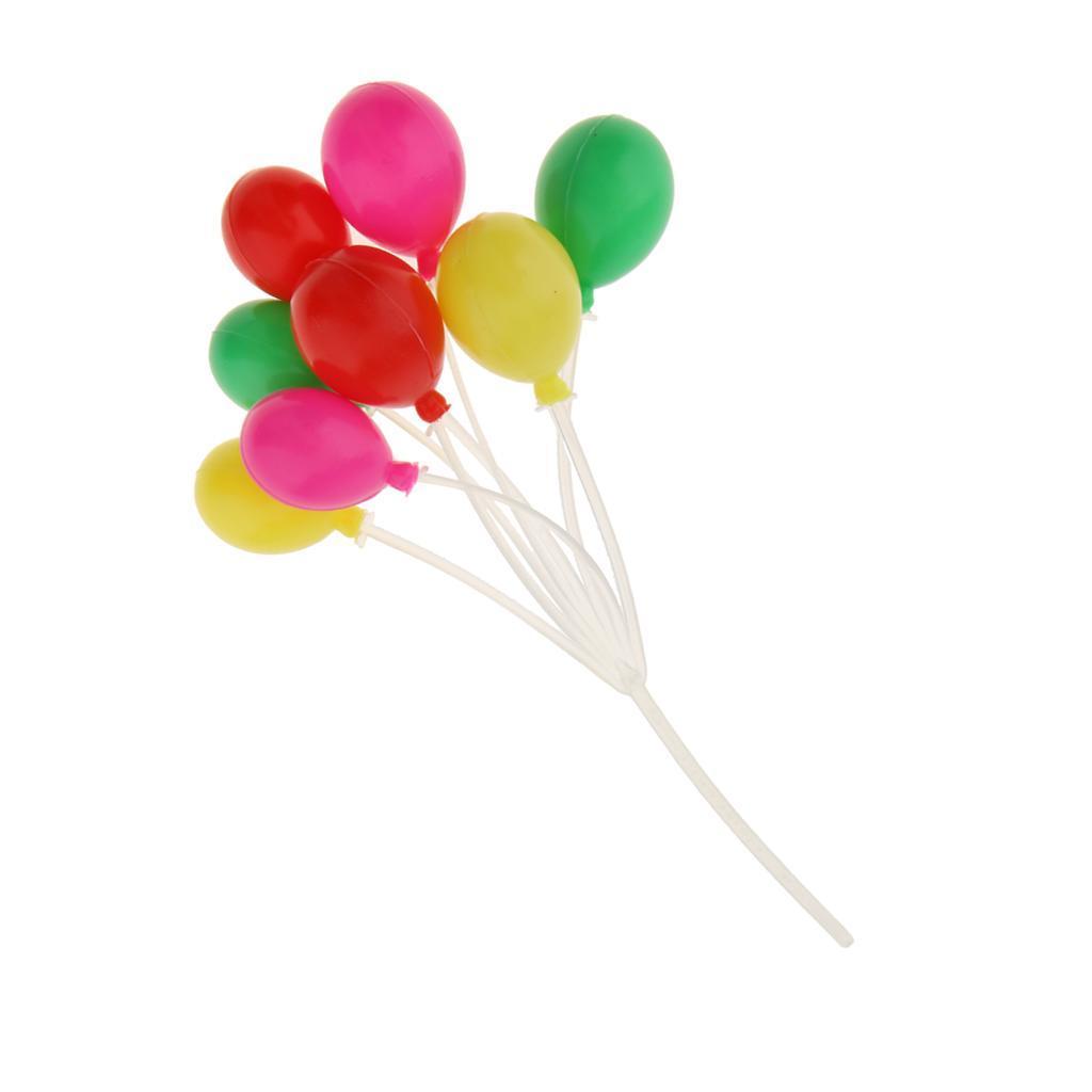 8pcs Miniatur Bunte Ballons Luftballons Zubehör für 1:12 Puppenhaus