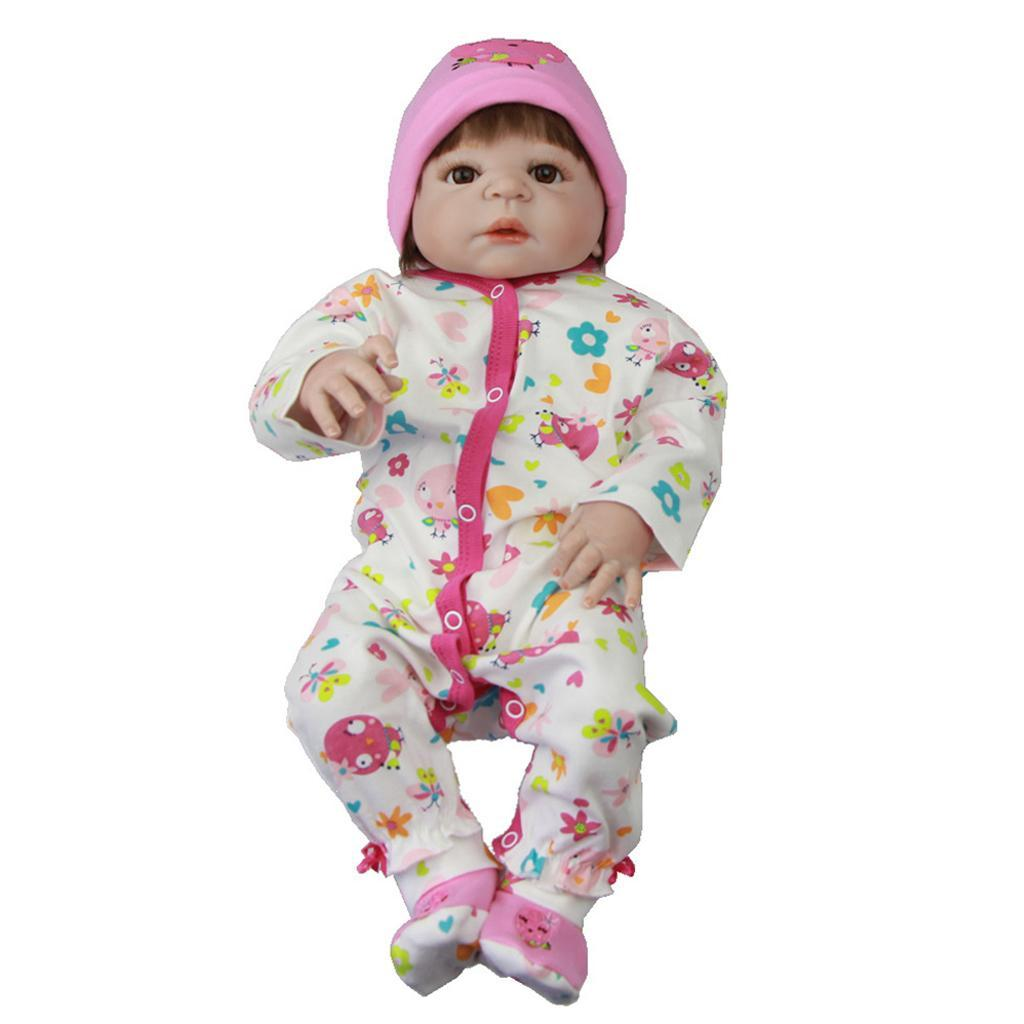 Lifelike-Baby-Dolls-Romper-Clothes-Headdress-for-22-039-039-23-039-039-Reborn-Baby-Girl-Doll thumbnail 19