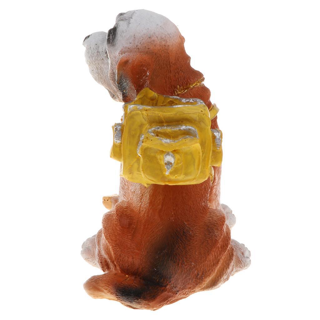 miniatura 11 - Modello-Di-Cane-Con-Borsa-In-Resina-Miniaturizzata-Decorazione-Per-La-Casa