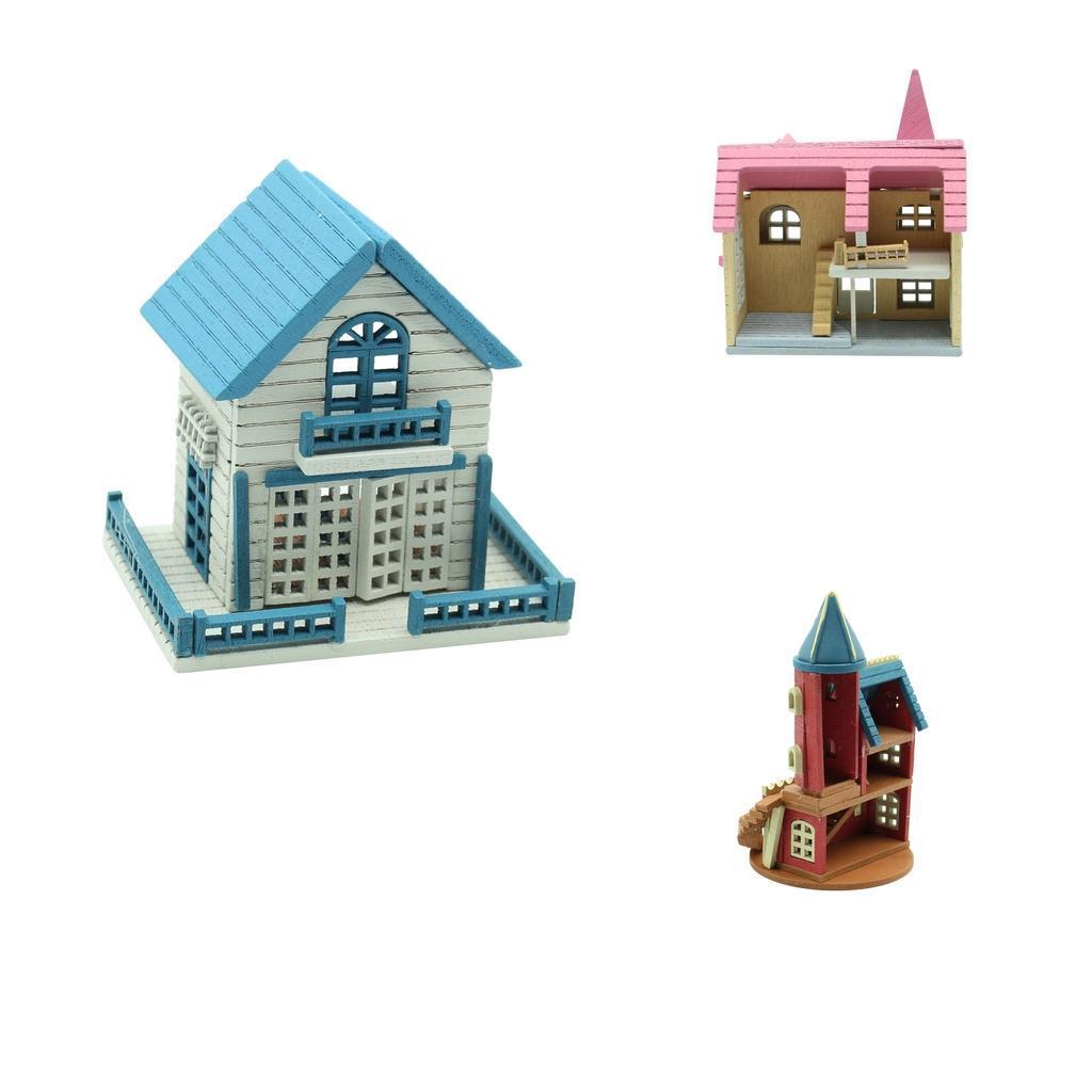 1//12 DIY Mini Wooden Dolls Miniature House Handicraft Building Assemble T jiYD