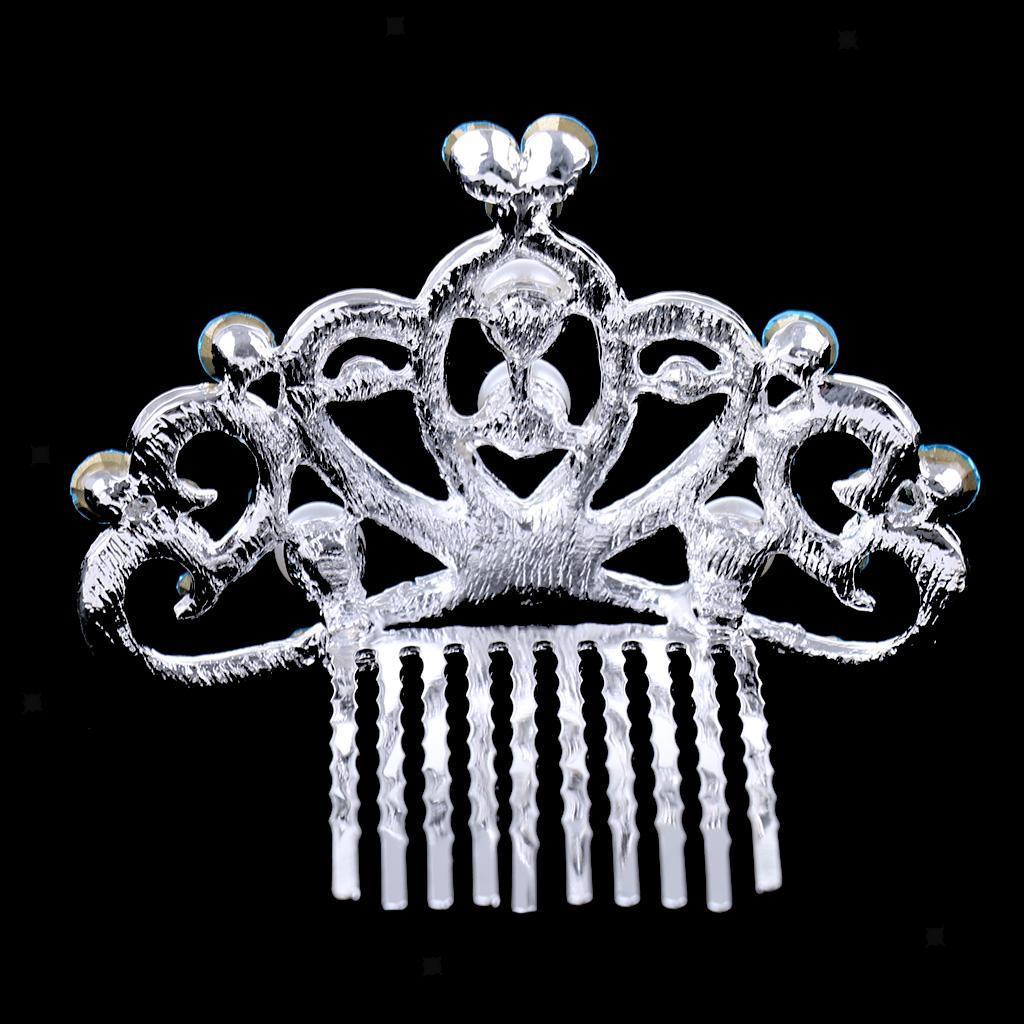Princess-Crystal-Mini-Hair-Crown-Tiara-Hair-Comb-Girls-Woman-Wedding-Party-Gift thumbnail 9