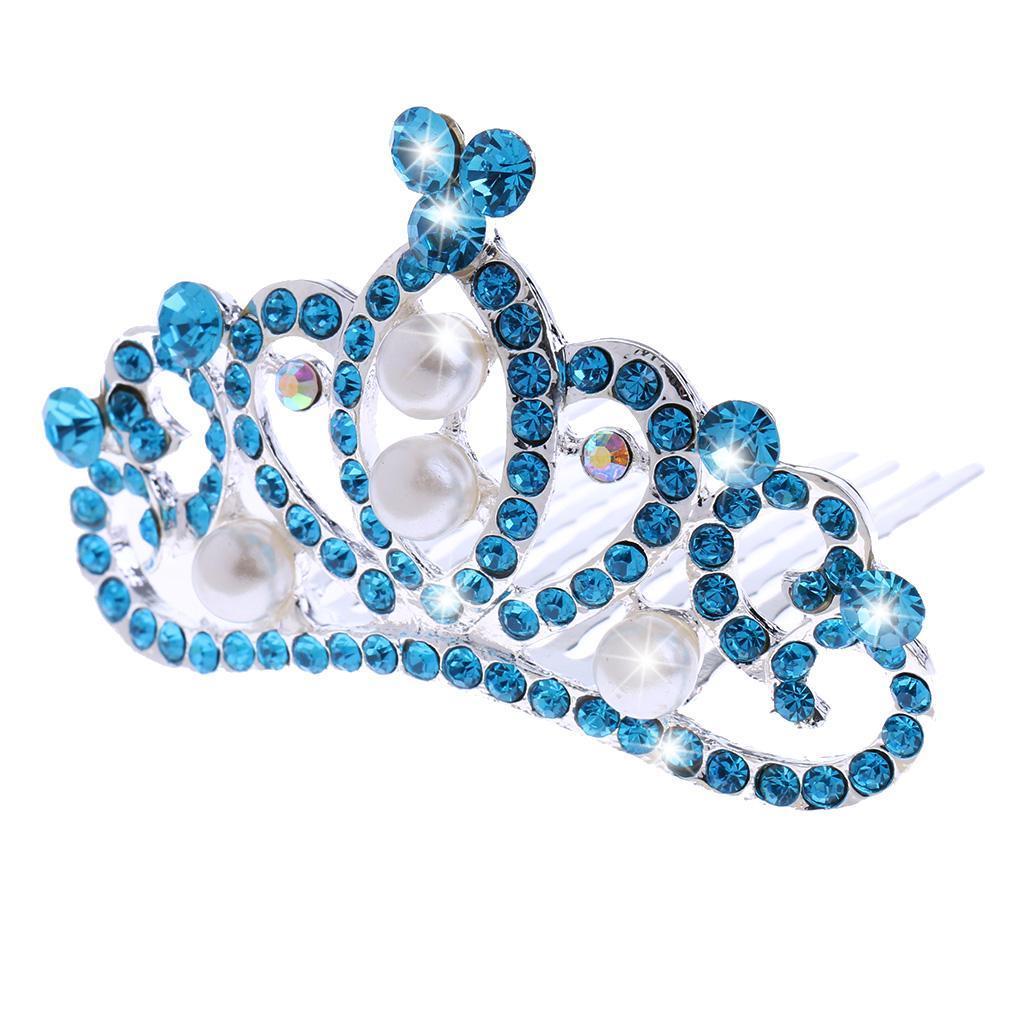 Princess-Crystal-Mini-Hair-Crown-Tiara-Hair-Comb-Girls-Woman-Wedding-Party-Gift thumbnail 6