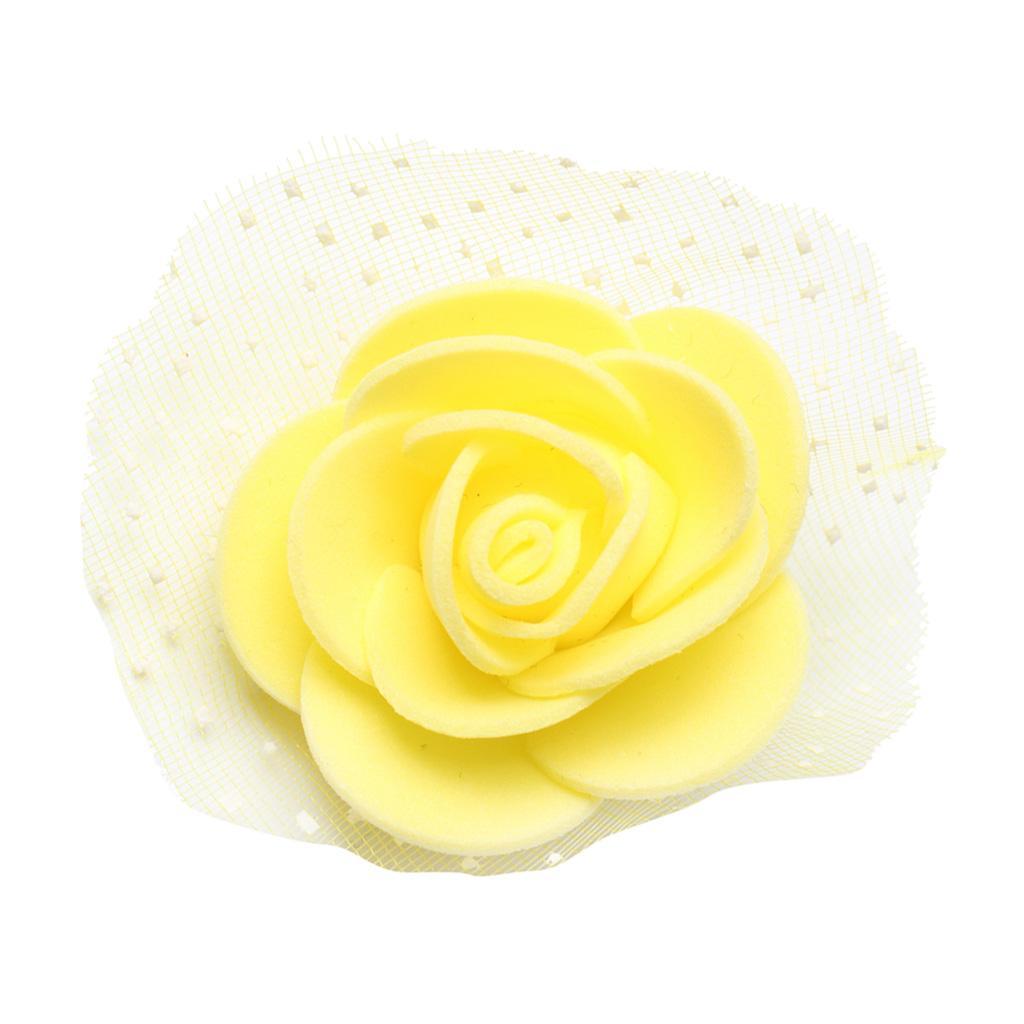 100-Pieces-Romantique-Mousse-Artificielle-Rose-Tete-Fleurs-De-Mariage miniature 9