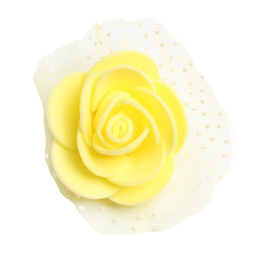 100-Pieces-Romantique-Mousse-Artificielle-Rose-Tete-Fleurs-De-Mariage miniature 8