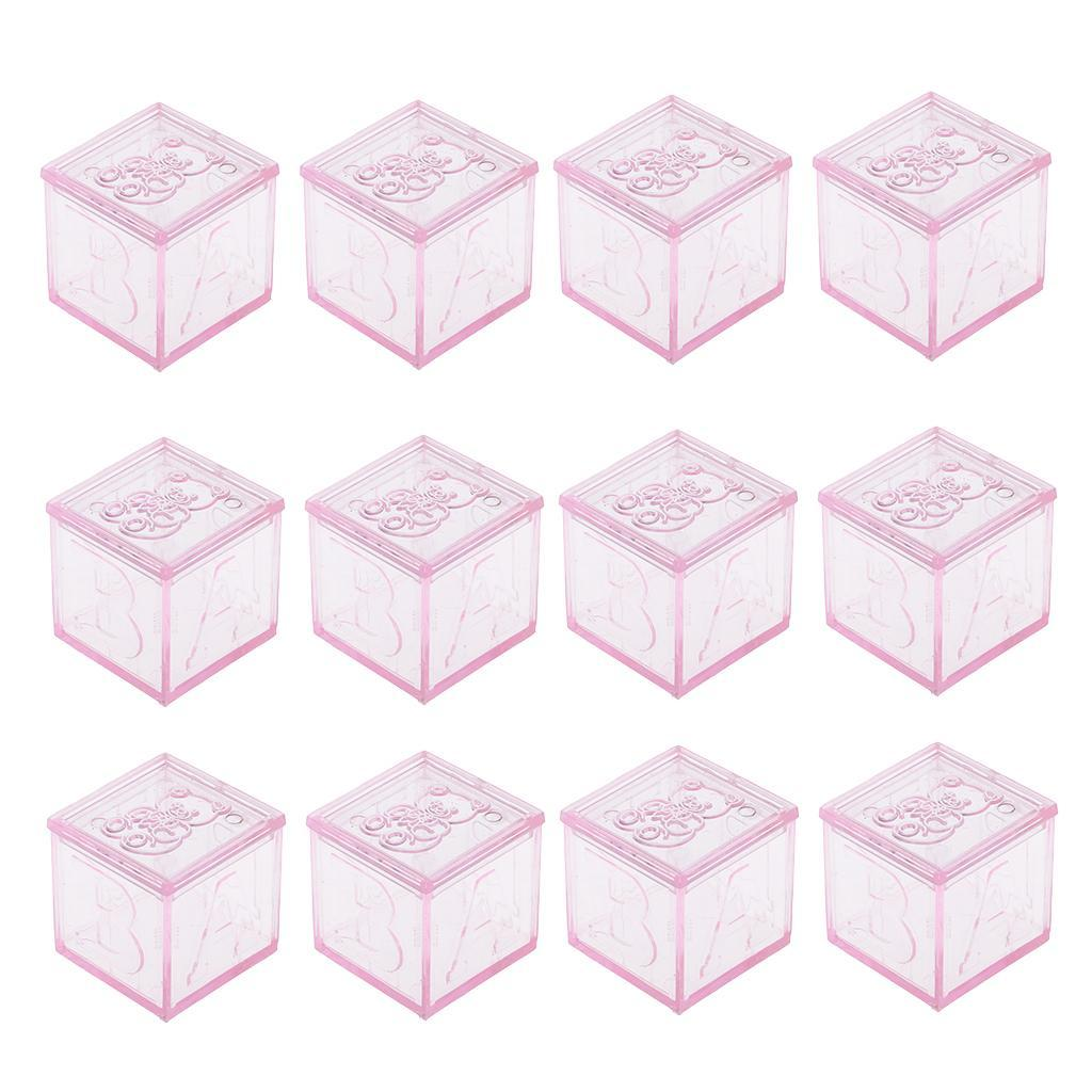 Panda Muster Pralinenschachtel Bonboniere Gastgeschenk Box LOVIVER 12Stk 3 Farben klar