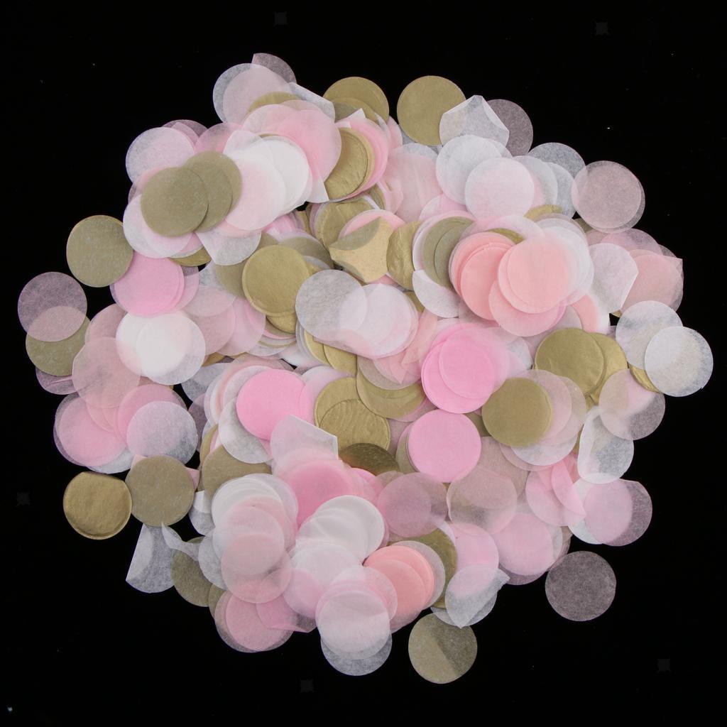 30g-Round-Tissue-Paper-Throwing-Confetti-Party-Balloon-Confetti-Wedding-Decor miniature 8
