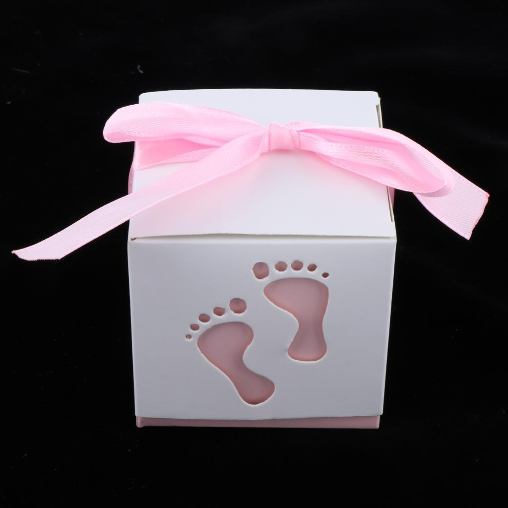 50pcs-Cute-Baby-Footprints-Square-Candy-Boxes-Baby-Shower-Birthday-Gift-Favor thumbnail 12