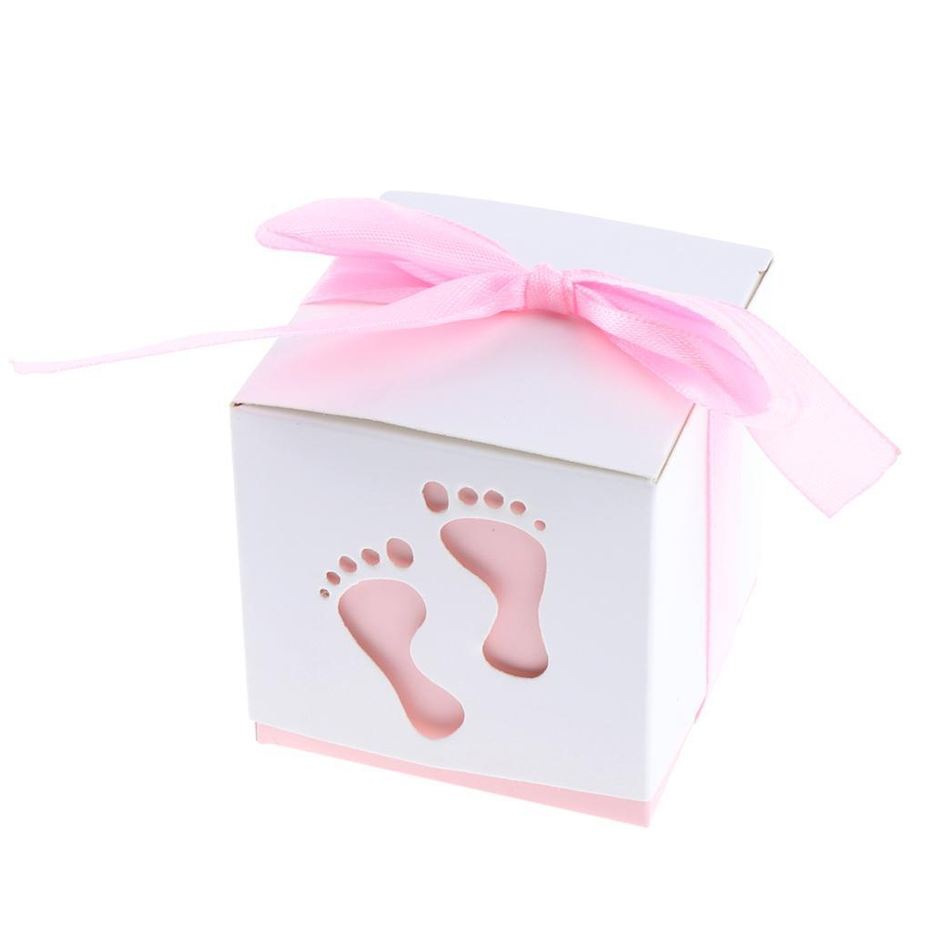 50pcs-Cute-Baby-Footprints-Square-Candy-Boxes-Baby-Shower-Birthday-Gift-Favor thumbnail 13