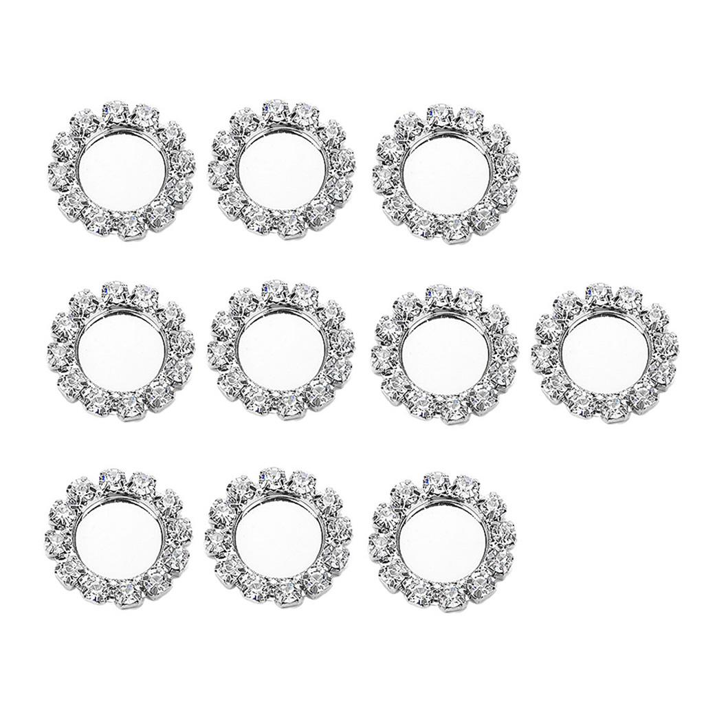 10x Sparkle Fashion Jewelry Base Cabochon Settings Support DIY Settings 8mm Silver Color