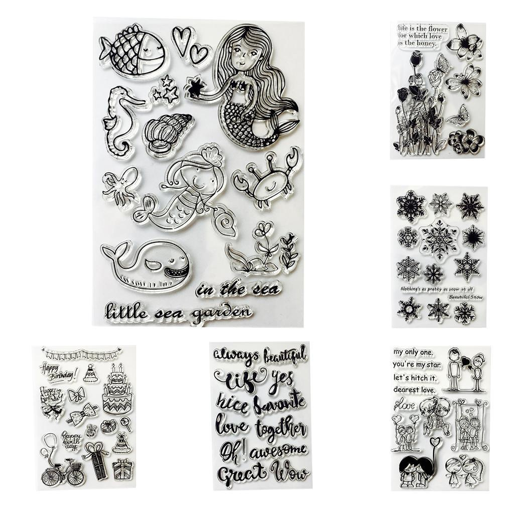 Silicone Stamps Wish Words Rubber Stamps DIY for Cards Making ...