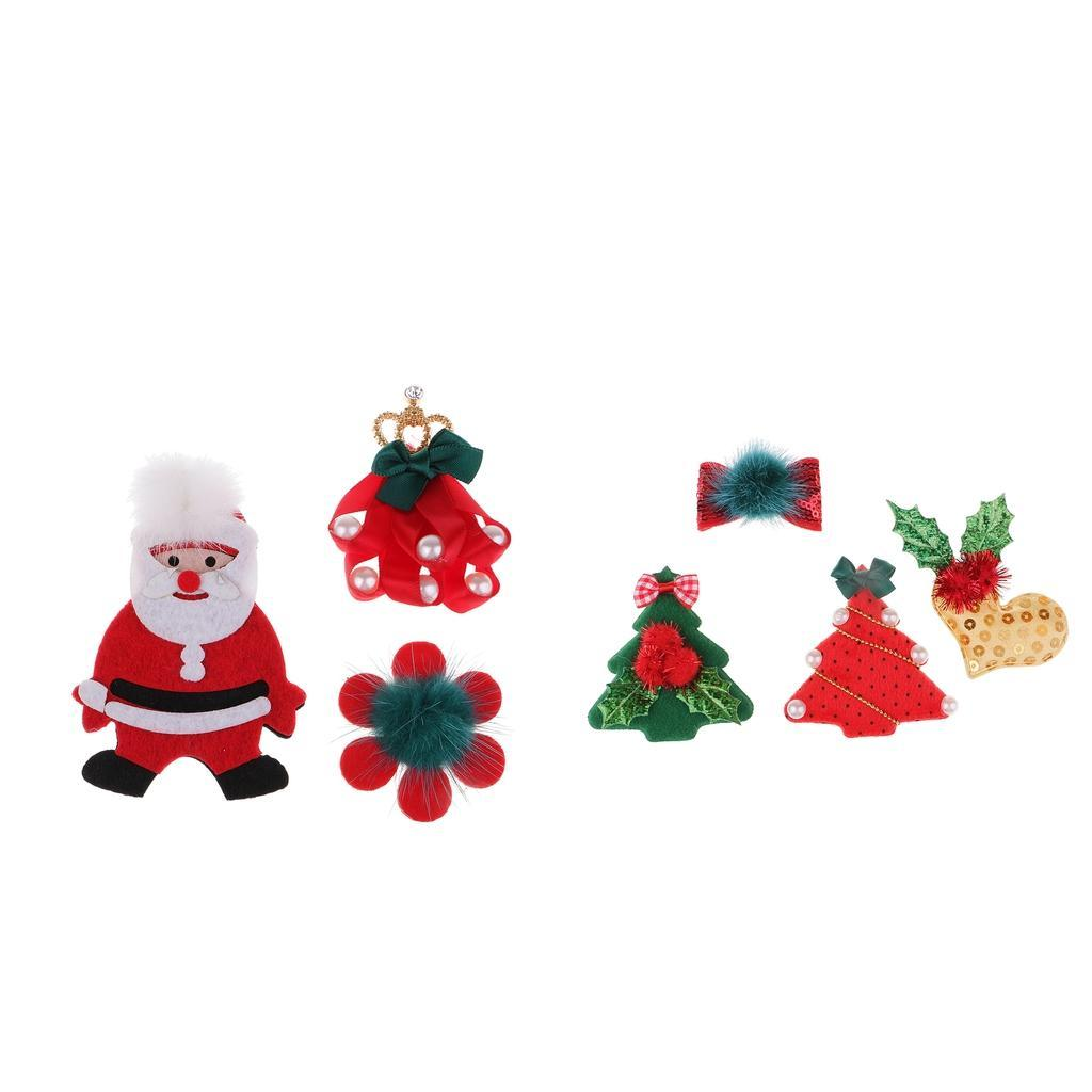 Christmas-Santa-Tree-Gift-Sew-on-Patch-Motif-Applique-Decoration-Ribbon-Bows thumbnail 4