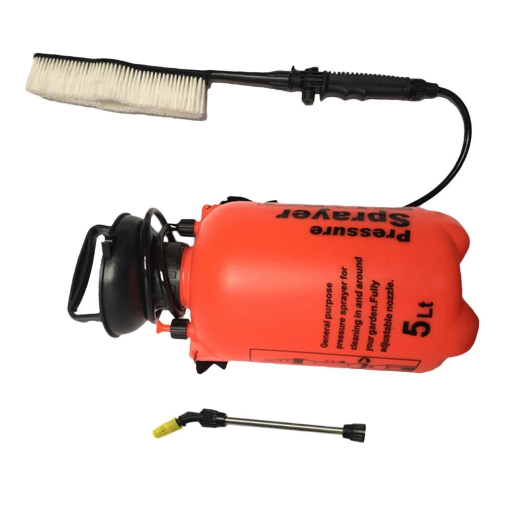 portable car power pressure washer brush jet spray hand pump wireless 5l ebay. Black Bedroom Furniture Sets. Home Design Ideas