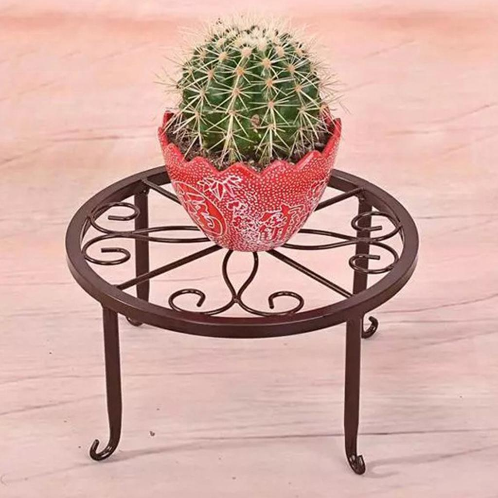 Metal-Plant-Stand-Display-Shelf-Home-Decor-Retro-Garden-Flower-Pot-Shelf thumbnail 6