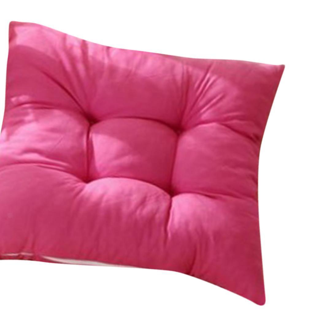 thumbnail 22 - Square-Chair-Cushion-Cushion-Pillow-for-Home-Office-14-Colors-40x40cm