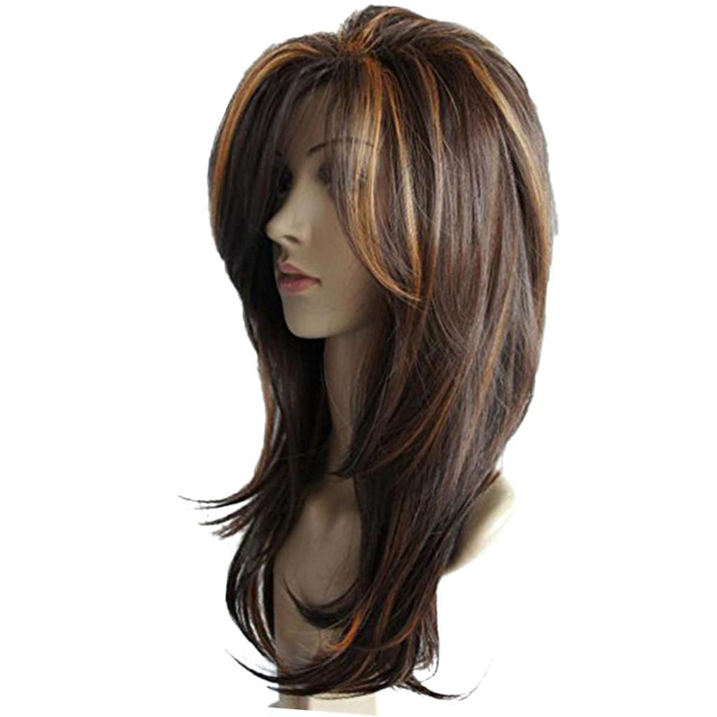 16-039-039-Natural-Looking-Side-Part-Wavy-Straight-Full-Hair-Wig-Women-Wedding-Wig thumbnail 16