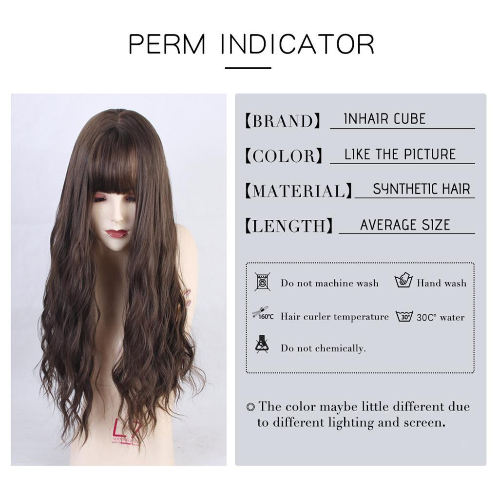 26-034-Natural-Looking-Curly-Cosplay-Women-Hair-Wigs-w-Bangs-for-Dating-Party thumbnail 23