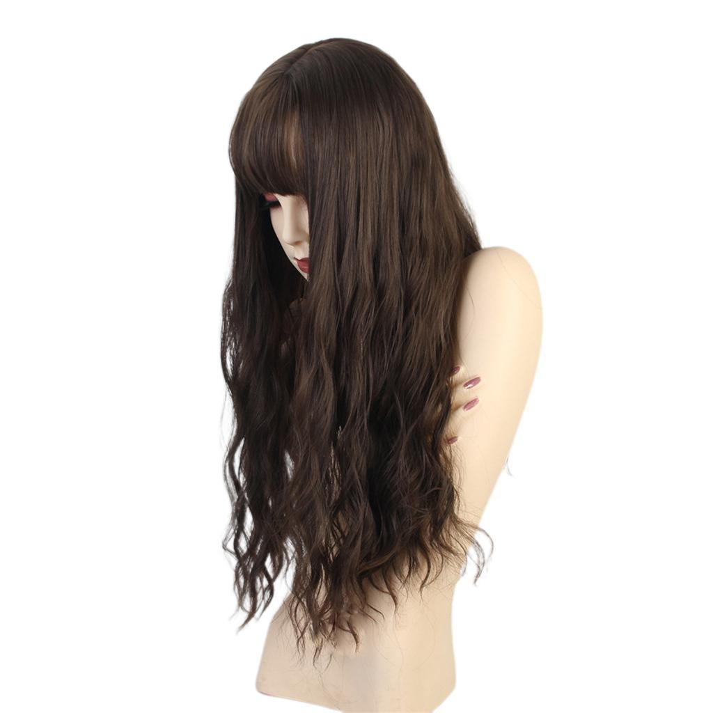 26-034-Natural-Looking-Curly-Cosplay-Women-Hair-Wigs-w-Bangs-for-Dating-Party thumbnail 18