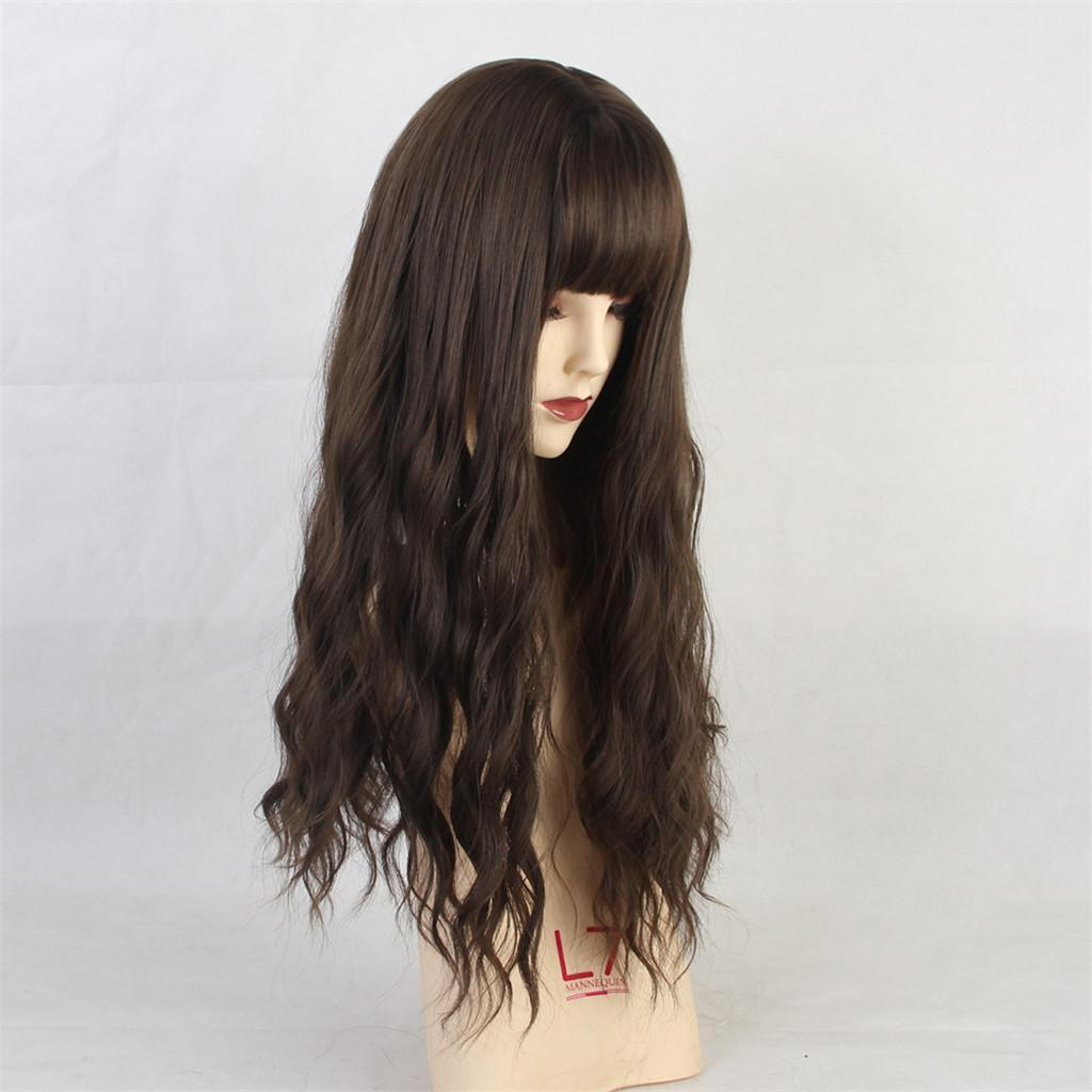 26-034-Natural-Looking-Curly-Cosplay-Women-Hair-Wigs-w-Bangs-for-Dating-Party thumbnail 15