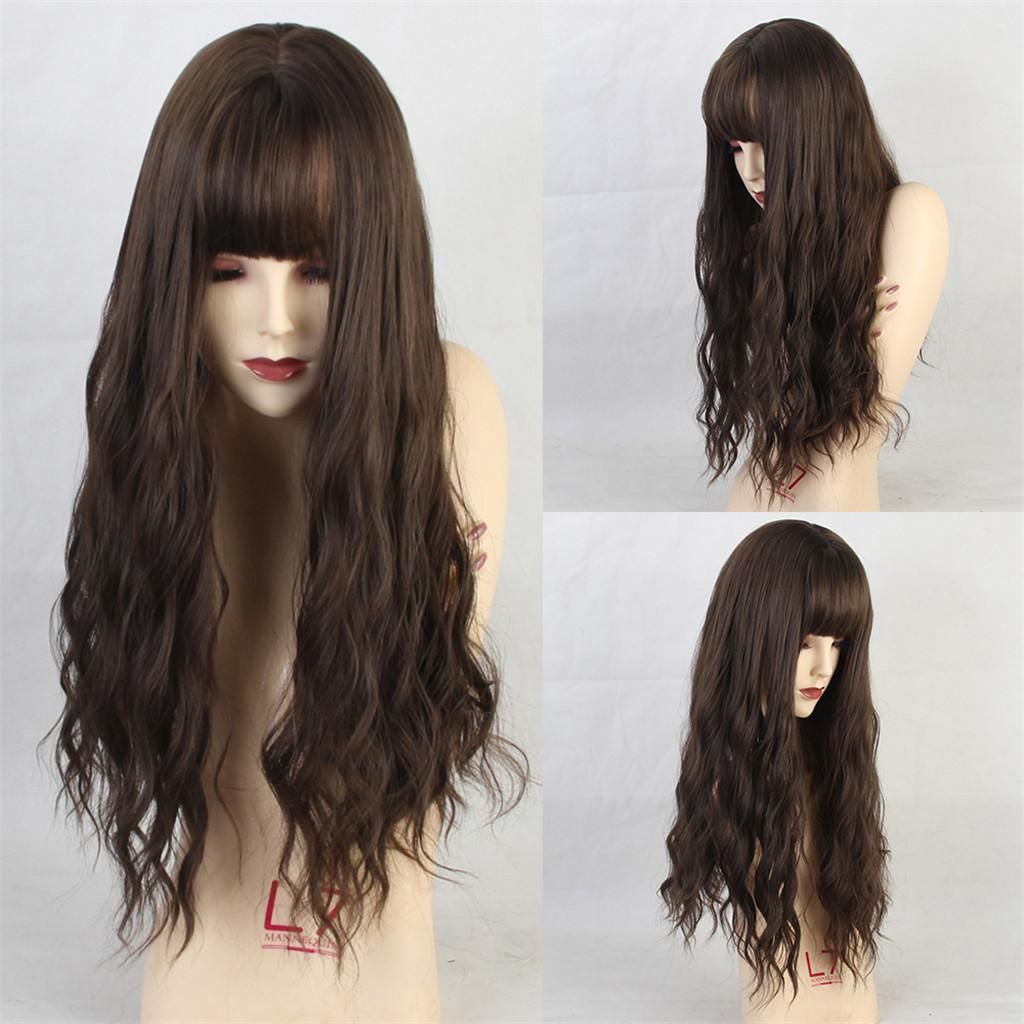 26-034-Natural-Looking-Curly-Cosplay-Women-Hair-Wigs-w-Bangs-for-Dating-Party thumbnail 17