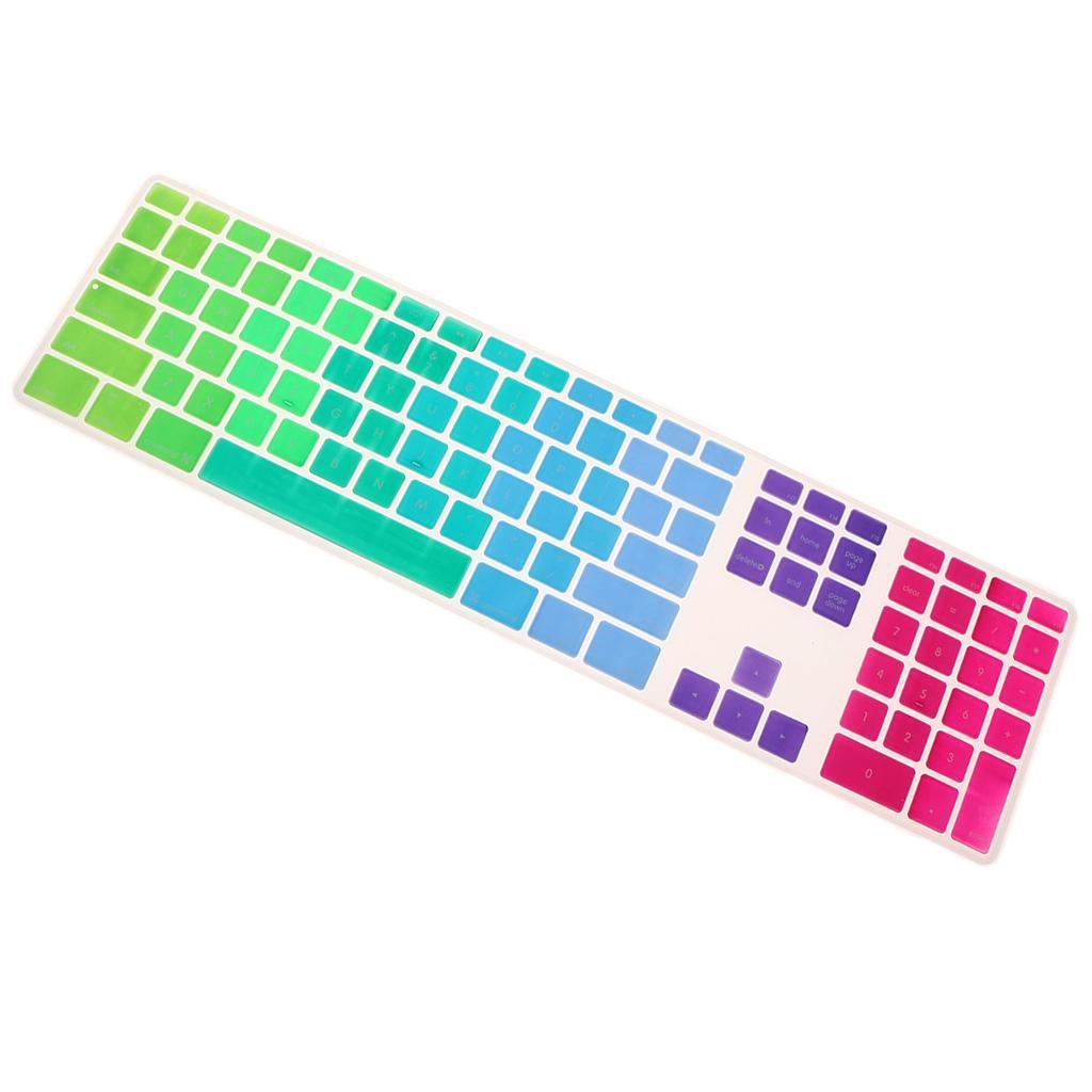Soft-Silicone-Keyboard-Cover-Skin-for-iMac-G6-A1243-with-Numeric-Keypad thumbnail 7